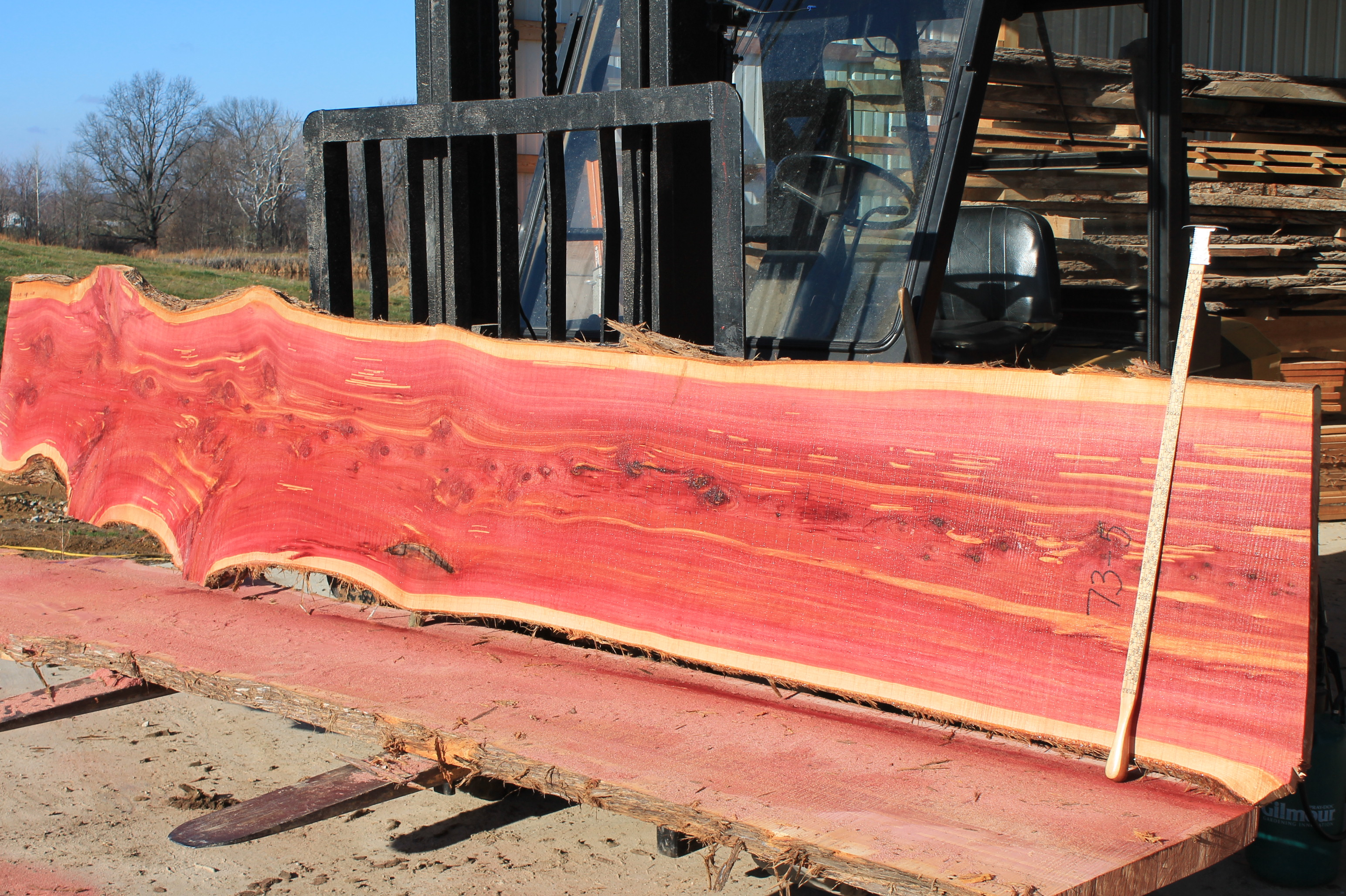 Western red cedar table top western red cedar live edge table top - 73 5 Aromatic Red Cedar Jpg